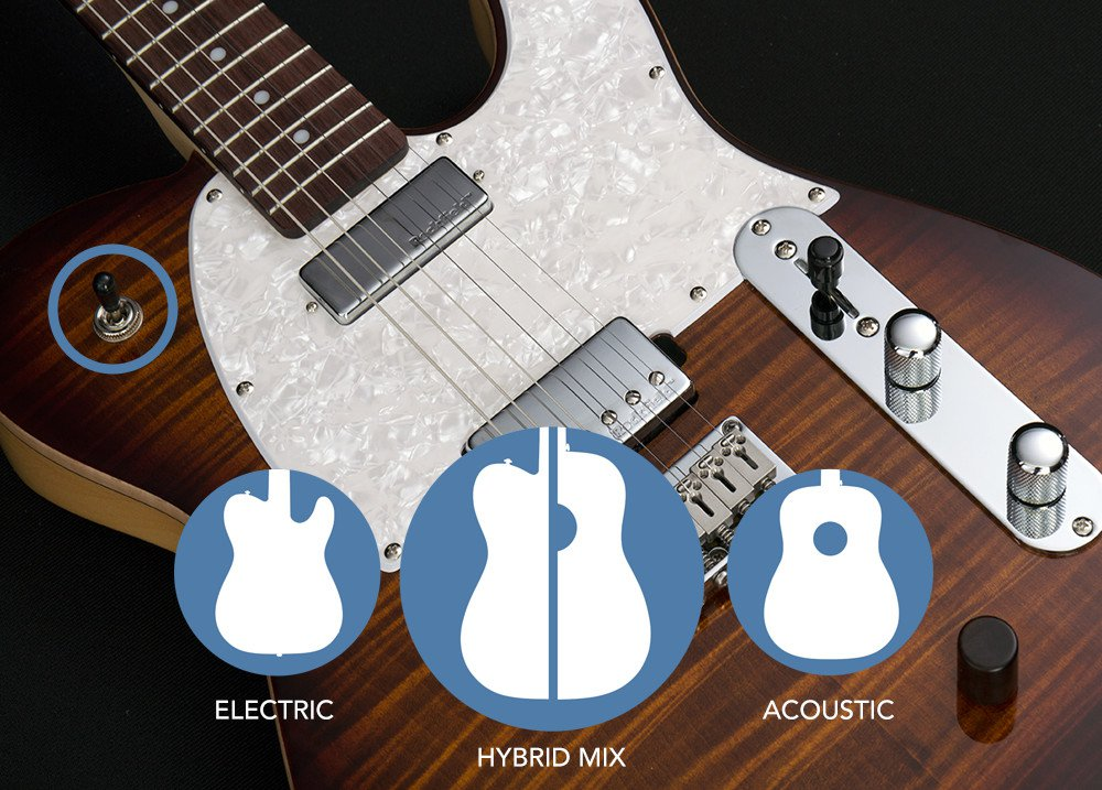 body of guitar and hybrid graphic