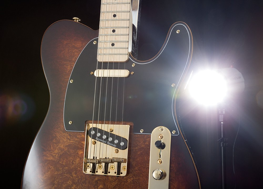 body of electric guitar