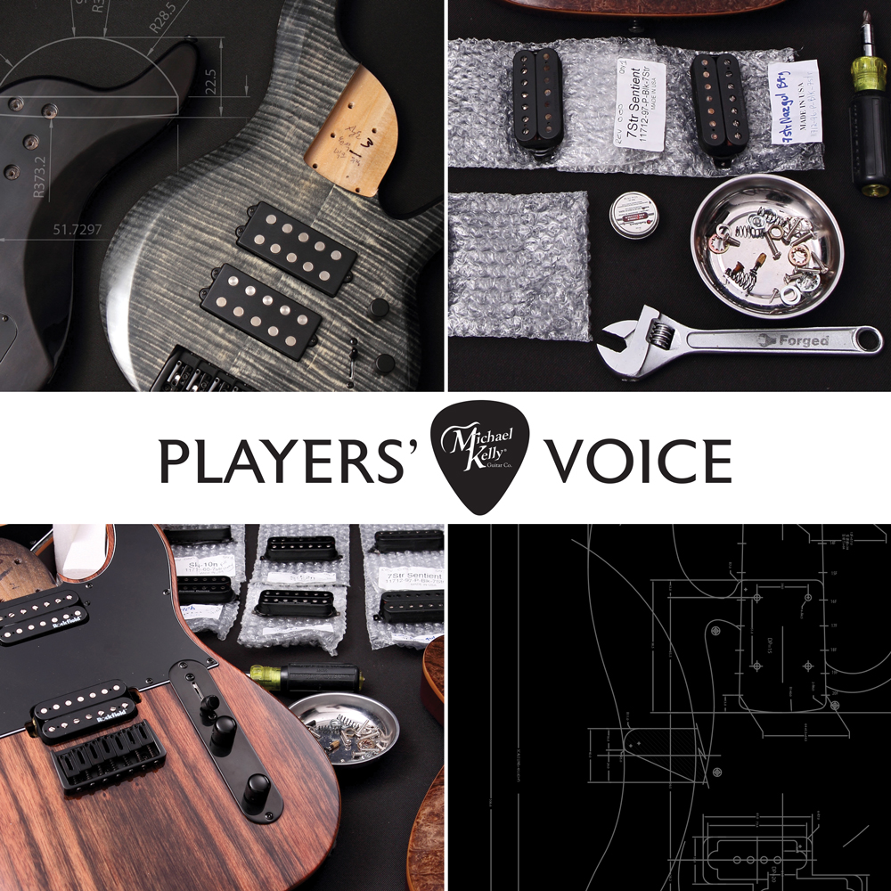 Players' Voice bass assembly collage